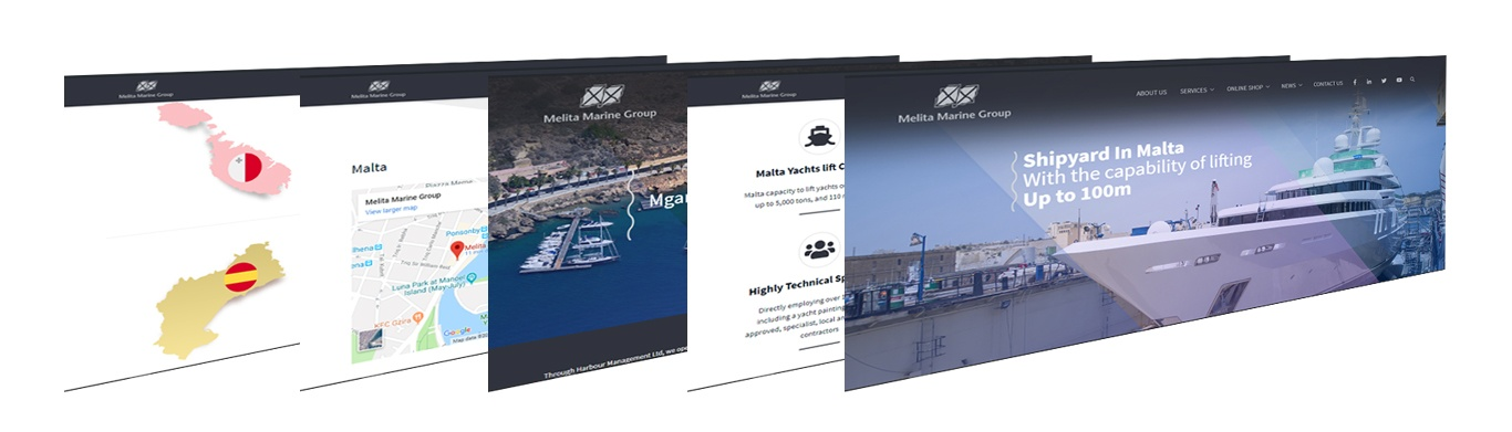 Melita Marine Group, New Website