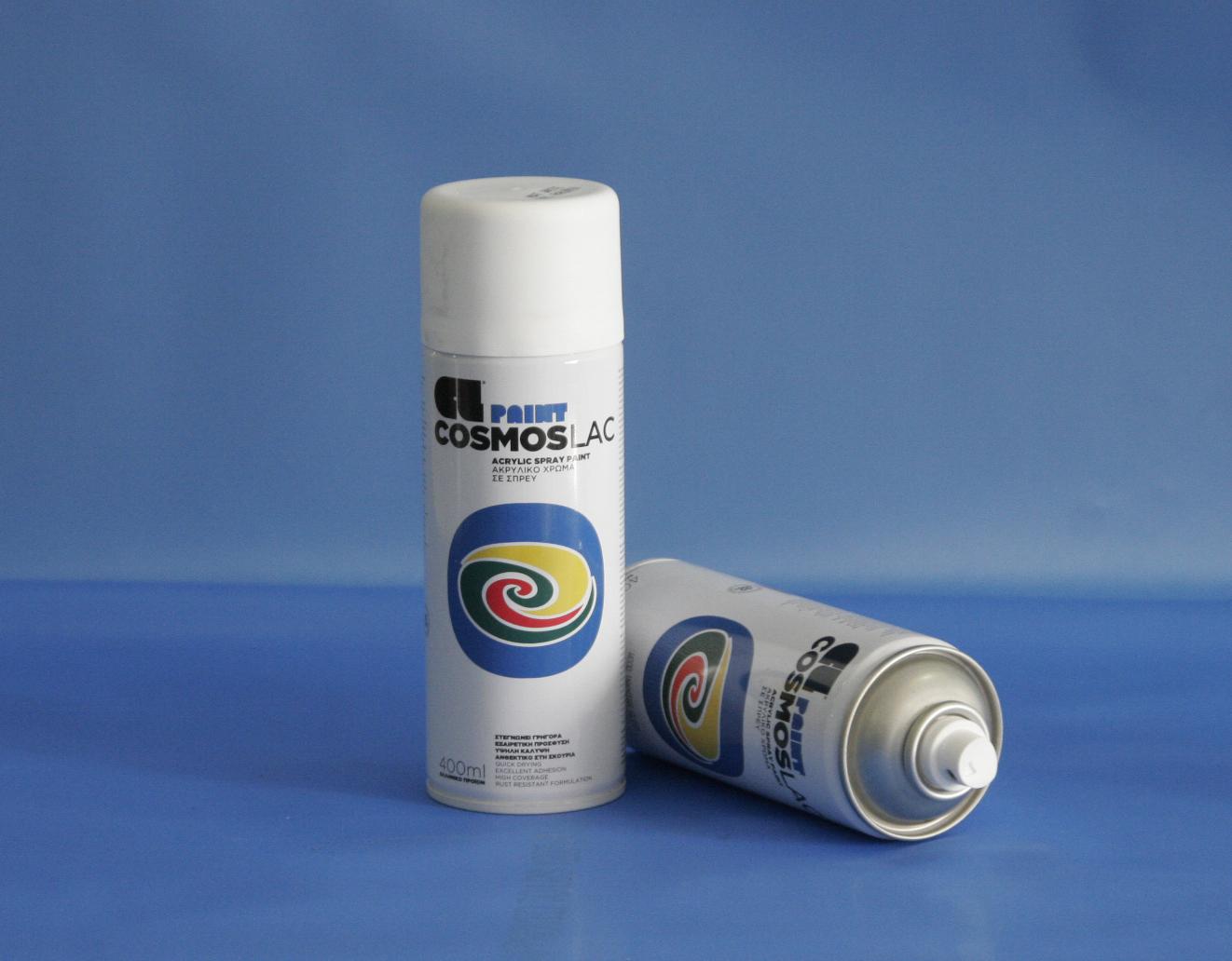 Cosmos-Lac N301 400ml Flat Matte White (Spray Can)