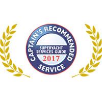 Captain's Recommended Service Award 2017 - Melita Marine