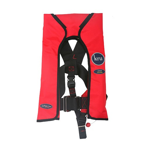 Kru Child Red Auto Life Jacket 15-13Kilos